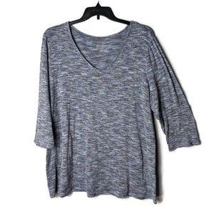 Lane Bryant Twist Knit V-Neck Sweater